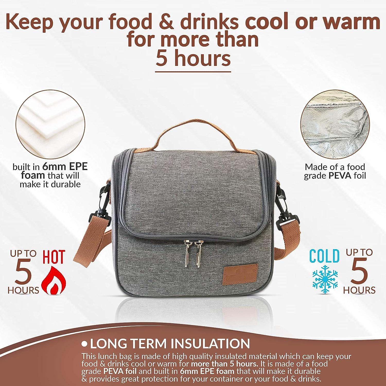 Journeys portatile Borsa termica termica per il pranzo da uomo da donna per interni ed esterni