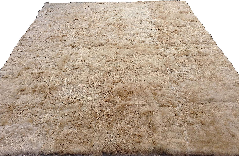 Imported. ON SALE Salmon Powder Long Hair 147 cm Wide Italian Alpaca Fur