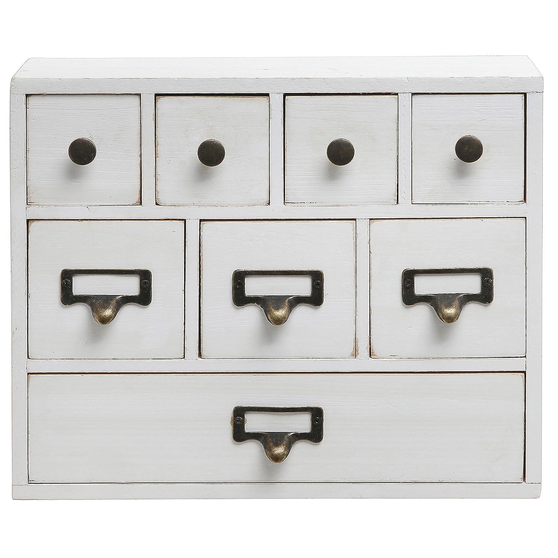 Amazon.com: Small White Shabby Chic Wood Library Card Catalog ...