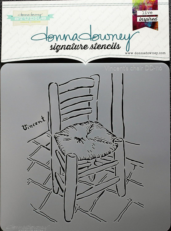Donna Downey Stencils DD-116 Signature 8.5X8.5-Vincent's Chair