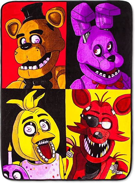 "New Five Nights At Freddy/'s Soft Fleece Throw Blanket 46/"" x 60/"" Plush Blanket"