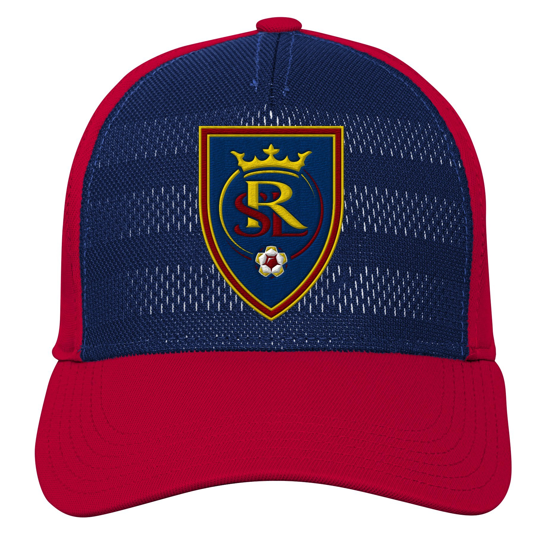 MLS Real Salt Lake Youth Boys Authentic Structured Flex, 1 Size, Crimson Red