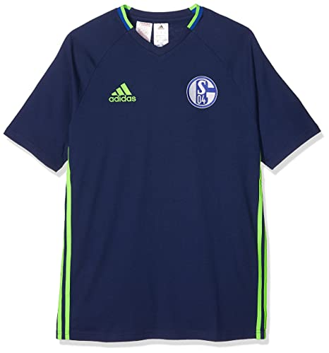 adidas Kinder FC Schalke 04 Training Tee Youth T Shirt Dark