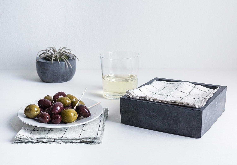 Culinarium Concrete Cocktail Napkin Bin
