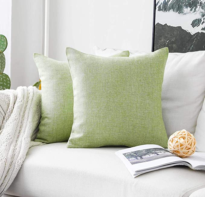 Amazon.com: HOME BRILLIANT - Funda de cojín de lino muy ...