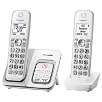 Panasonic DECT 6.0 Expandable Cordless Phone with Answering Machine and Smart Call...