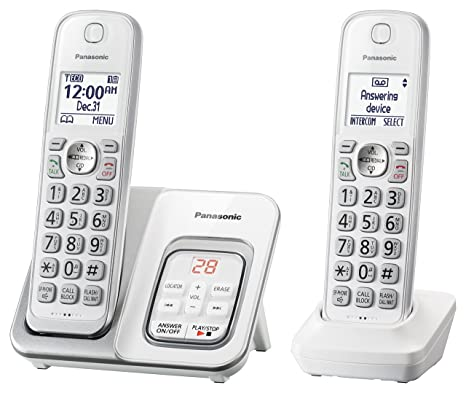 Amazon Panasonic Kx Tgd532w Expandable Cordless Phone With