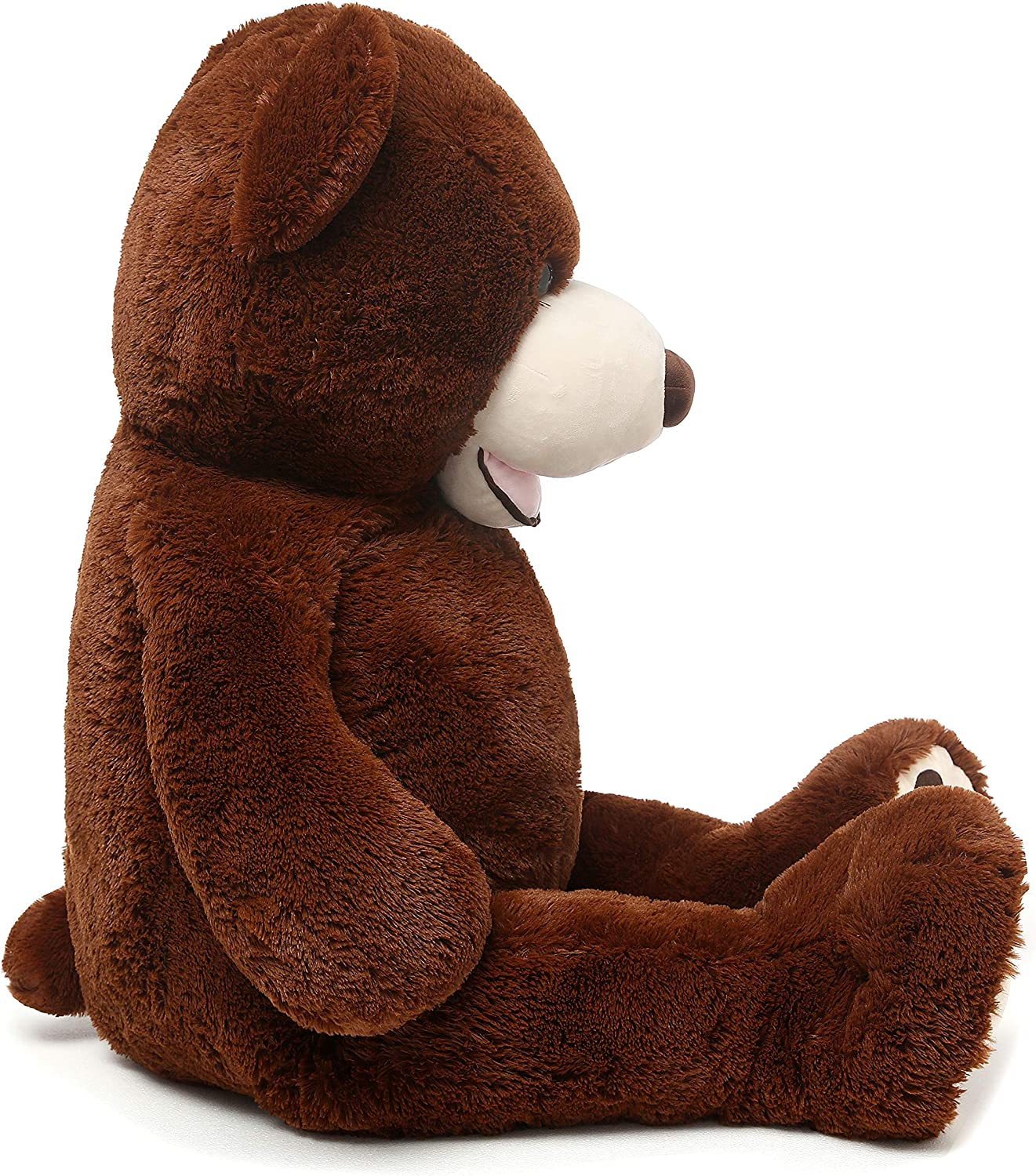MorisMos Giant Teddy Bear with Big Footprints Plush Stuffed Animals Light Brown 39 inches: Toys & Games