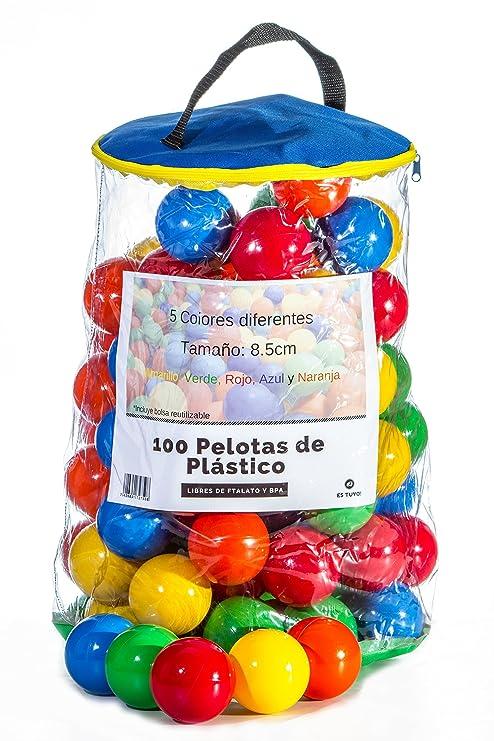 Paquete de 100 pelotas de plástico para alberca de bebés y niños, de ...