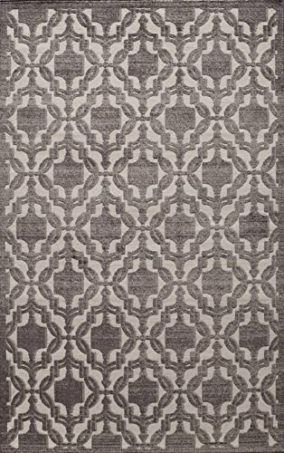 Rugs America RV500D Area Rug, 5 x 8 , Charcoal
