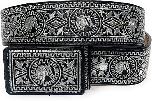 Free Shipping Leather belt with Belt buckles for men western Tibetan Silver Belt Turquoise Coral Stone waist trap for leather belt B201
