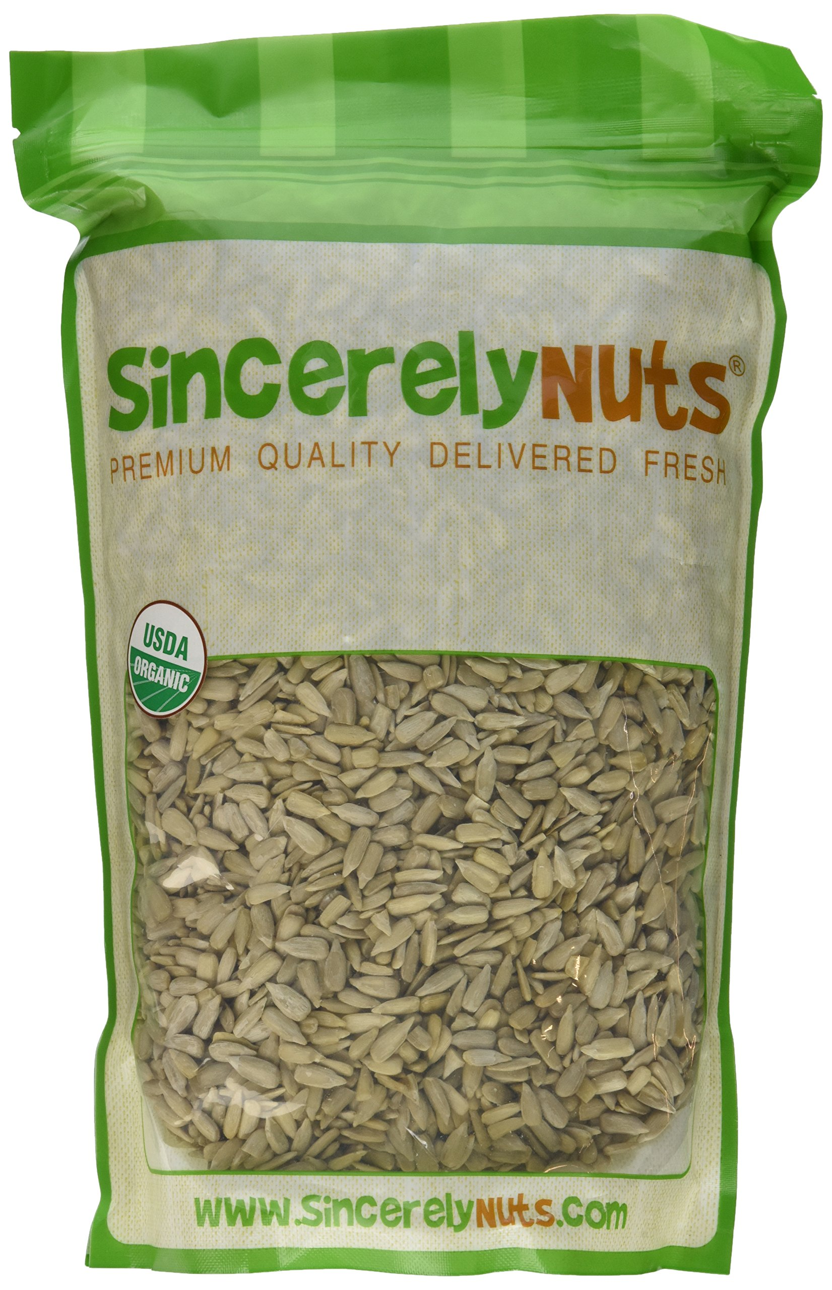 Sincerely Nuts Organic Sunflower Seeds Hulled (Raw, No Shell) 2 LB