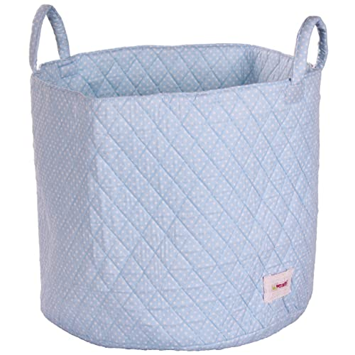 Minene Storage Basket Blue Spot  Round Storage Baskets, Large Fabric Storage  Basket   Great