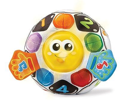 VTech-80-509122, Pelota fútbol bebé Blanda interactiva con más de 45 melodías, Sonidos, Canciones y Frases, favorece la estimulación Sensoria, ...