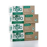 Hello Oral Care Naturally Whitening Fluoride Toothpaste, Vegan & SLS Free, Farm...