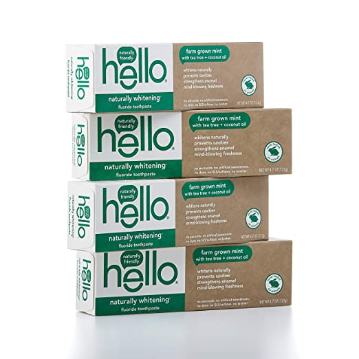 The Hello Oral Care Naturally Whitening Fluoride Toothpaste travel product recommended by Adina Mahalli on Pretty Progressive.