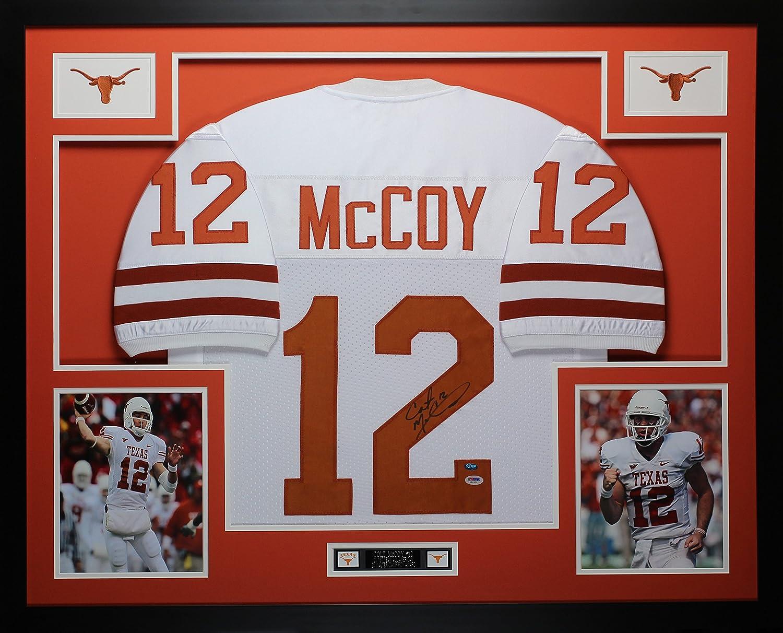 sale retailer 6bec7 c2c16 Colt McCoy Autographed White Longhorns Jersey - Beautifully ...