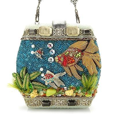 Mary Frances Hand Beaded Fish Bowl Beaded Jeweled 3 Dimensional Purse  Clutch Shoulder Bag  Handbags  Amazon.com eaba938e334ad