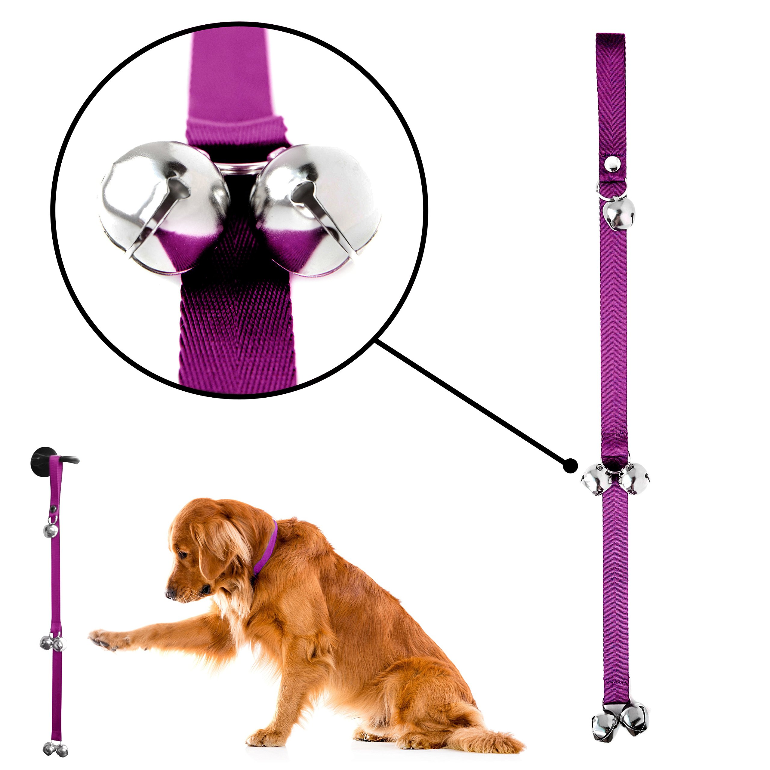 Mighty Paw Tinkle Bells Premium Quality Dog Training Bells - Pink