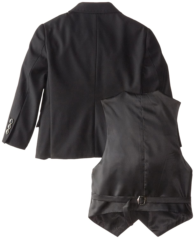 Isaac Michael Little Boys Solid Black 3 Piece Suit