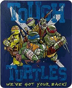 "Teenage Mutant Ninja Turtles, Tough Turtle Blues Fleece Throw Blanket, 45"" x 60"""