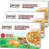 Jovial Egg Tagliatelle Gluten-Free Pasta | Whole Grain Brown Rice Egg Tagliatelle Pasta | Lower Carb | Kosher | USDA Certifie