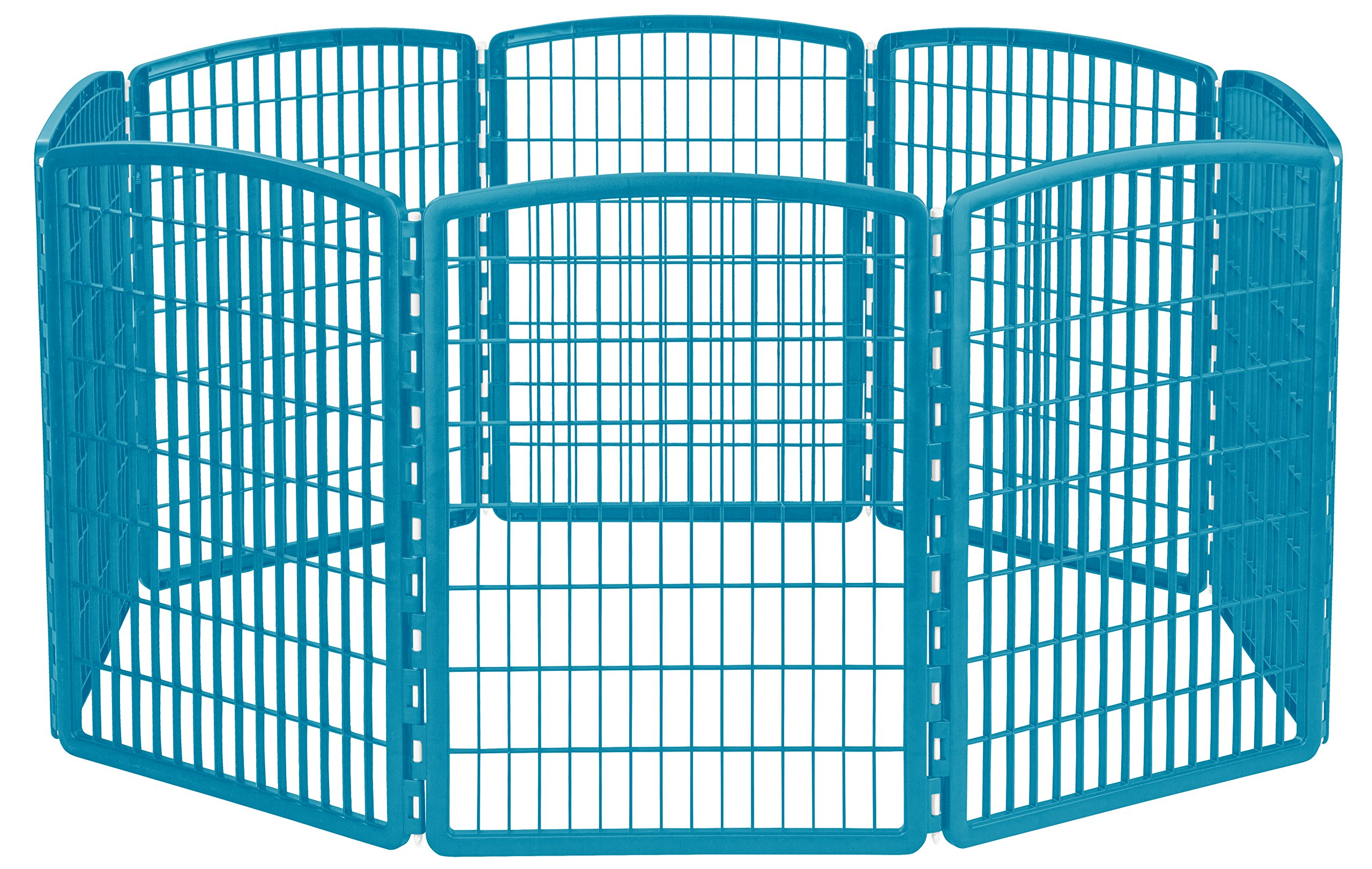 IRIS 34'' Exercise 8-Panel Pet Playpen without Door, Blue Moon by IRIS USA, Inc.