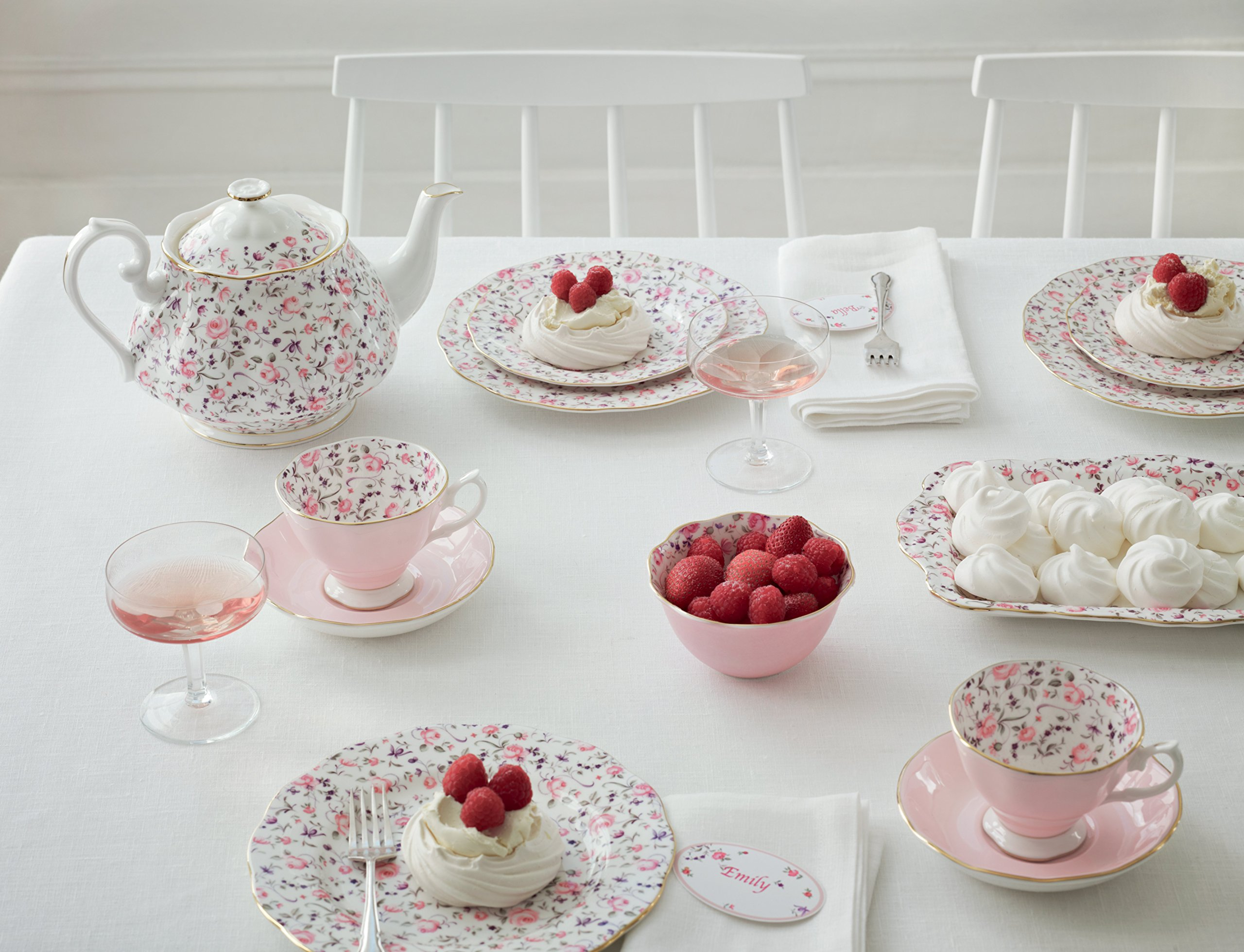 Royal Albert 8704025823 New Country Roses Rose Confetti Teaset, 3-Piece by Royal Albert (Image #5)
