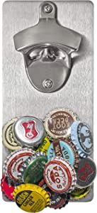 Wall Mounted Beer Bottle Opener with Magnetic Cap Catcher   Novelty Gift   Unique Present for Friends, Men, Women, Housewarming Gifts for New Home, Birthday Gift, Best Gift for Men, Dad Beer Lovers