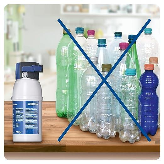 BRITA My Pure Grifo de Agua con Filtro para 12 Meses, Acero Inoxidable, Plateado, Sistema: Amazon.es: Hogar