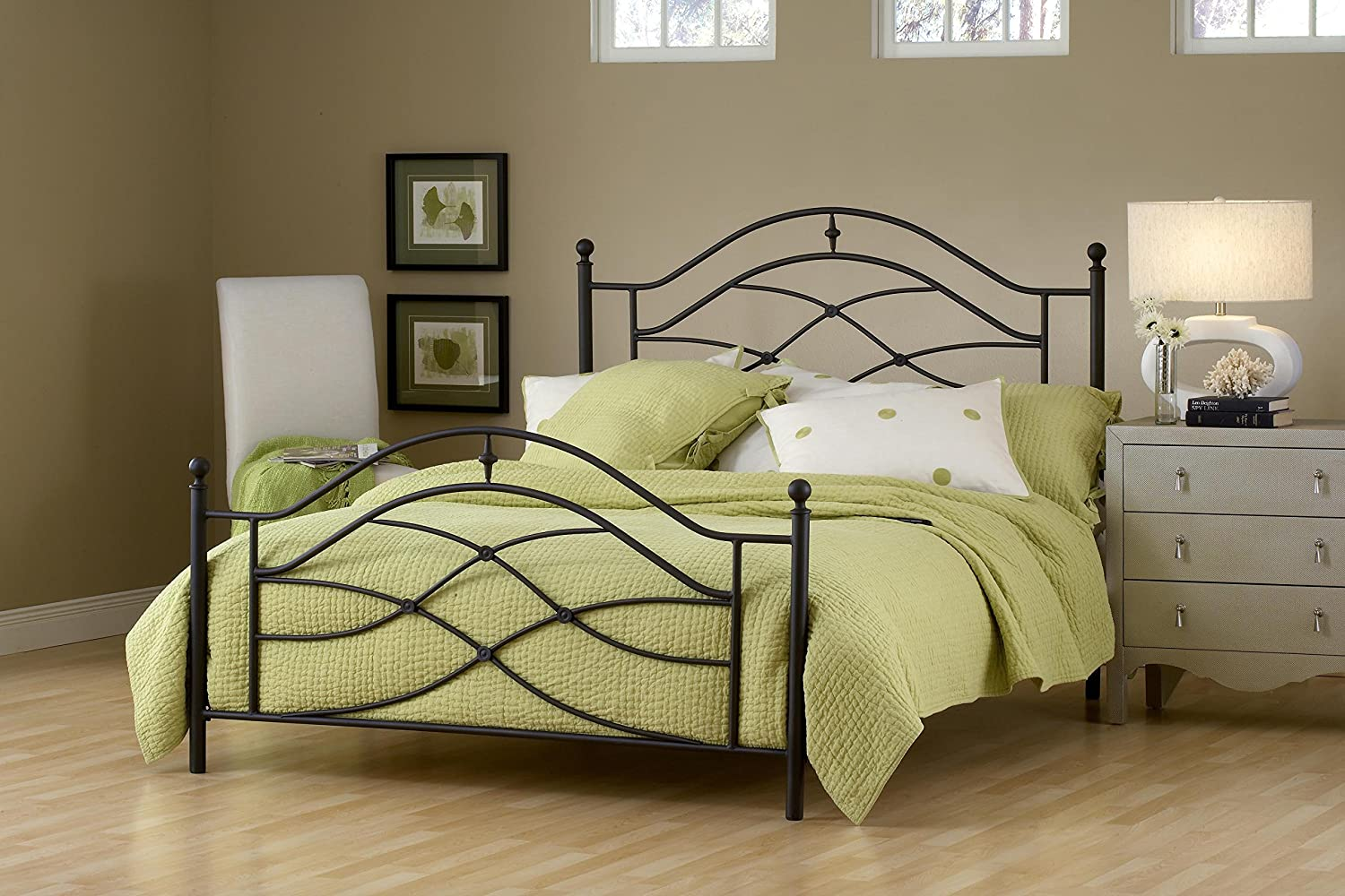 Amazon.com: Hillsdale Furniture 1601BTWR Cole Bed Set With Rails, Twin,  Black Twinkle: Kitchen U0026 Dining