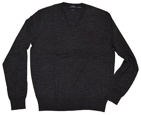 f4fa163d Ralph Lauren Polo Mens Custom Fit Italy Merino Wool V-Neck ...