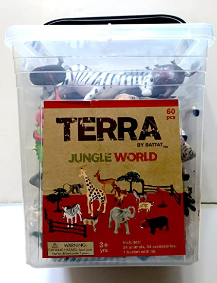 Amazon Com Terra Jungle World In A Reusable Bucket With Lid For