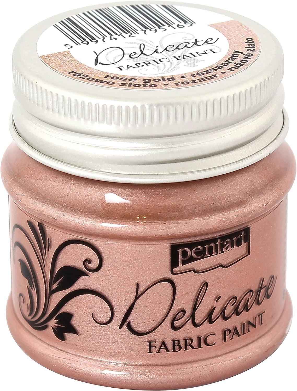 Pentart Delicate - Pintura para tela, 50 ml, color rosa dorado ...