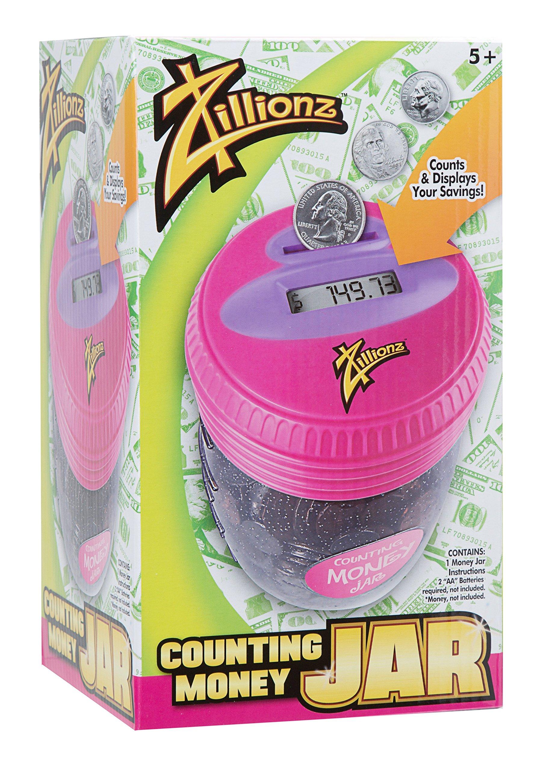 Zillionz Girl Counting Money Jar - Pink