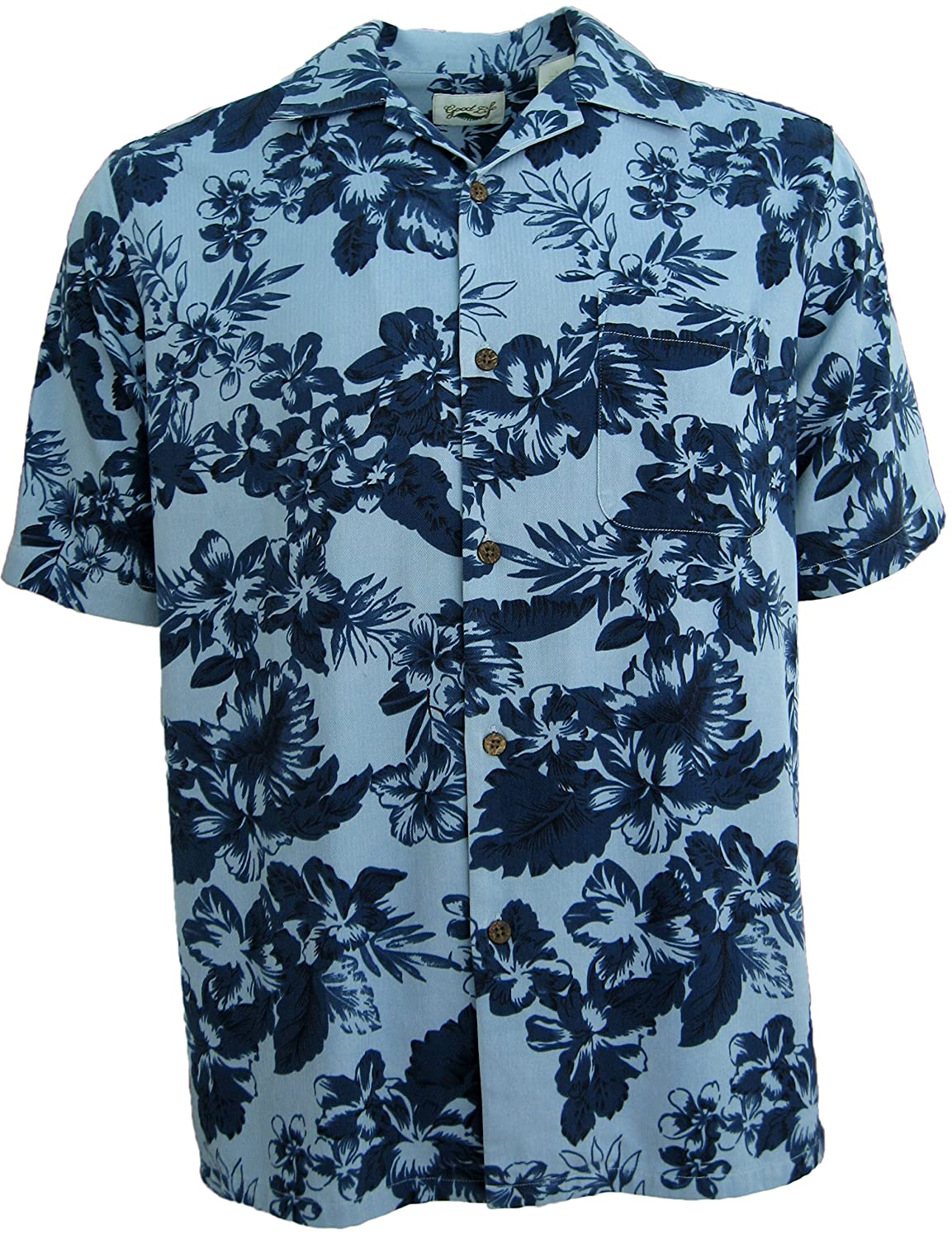 1e58c446f2 High Quality 100% Silk Camp Shirt - Short Sleeves- Genuine Coconut Buttons  Please Reference this sizing guide to find your fit  Large  41-43 inch  customer ...