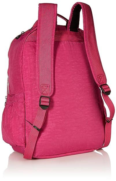 KiplingBP4167 - Seoul L sólido, mochila para laptop Mujer, Rosado (Frutilla), Talla única: Amazon.es: Ropa y accesorios