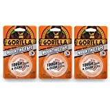 """Gorilla 6065001-3 Tough & Clear Mounting Tape, Double-Sided, 1"""" x 60"""", Clear, (Pack of 3), 3 - Pack, 3 Piece"""