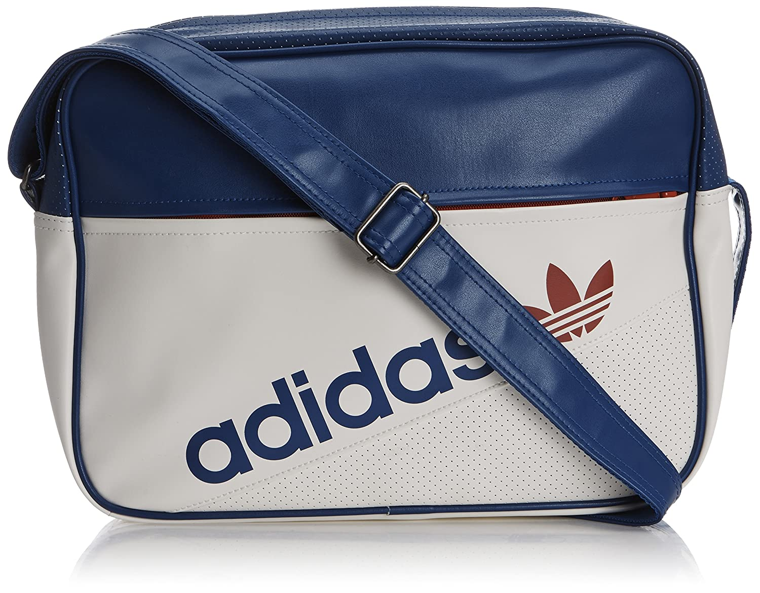 fd086ebf41 adidas Perforated Airliner Bag - Running White Collegiate Royal Collegiate  Red