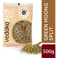 Amazon Brand - Vedaka Popular Green Moong Split/Chilka, 500g