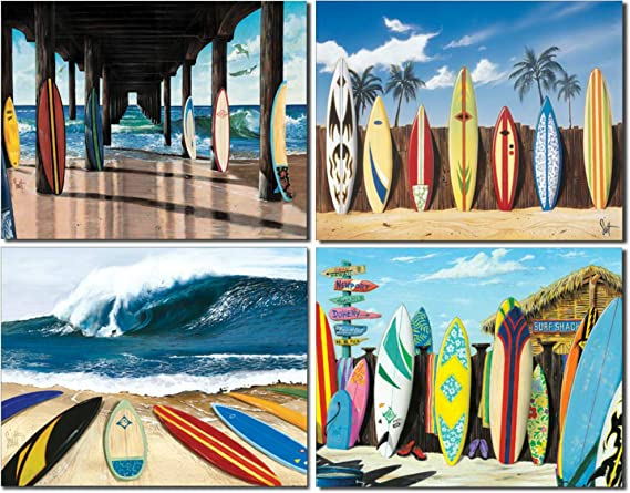 Amazon.com: Tabla de surf Tin Sign Bundle – de Westmoreland ...