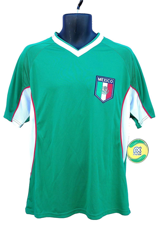 メキシコサッカー公式大人用サッカートレーニングパフォーマンスPoly Jersey p002 Rhinox B06X99KZ13 Adult|メキシコ サッカージャージ-P002-XL Adult