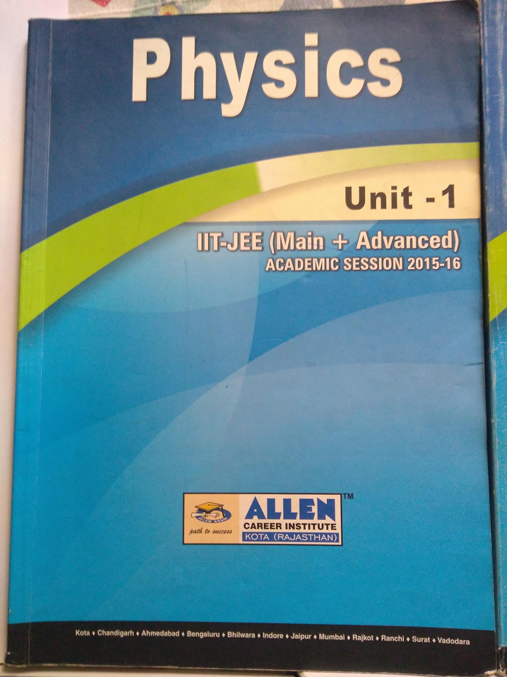 Amazon in: Buy Allen Study Material for JEE: physics Book