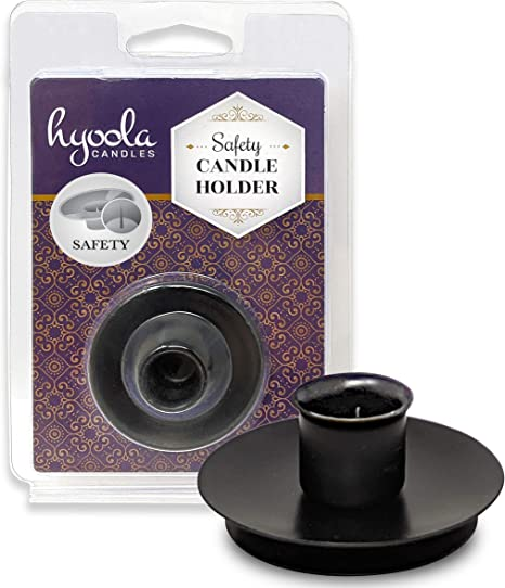 Amazon.com: Safety Candle Holder- Black - for 1/2 inch Diameter Candle: Home & Kitchen