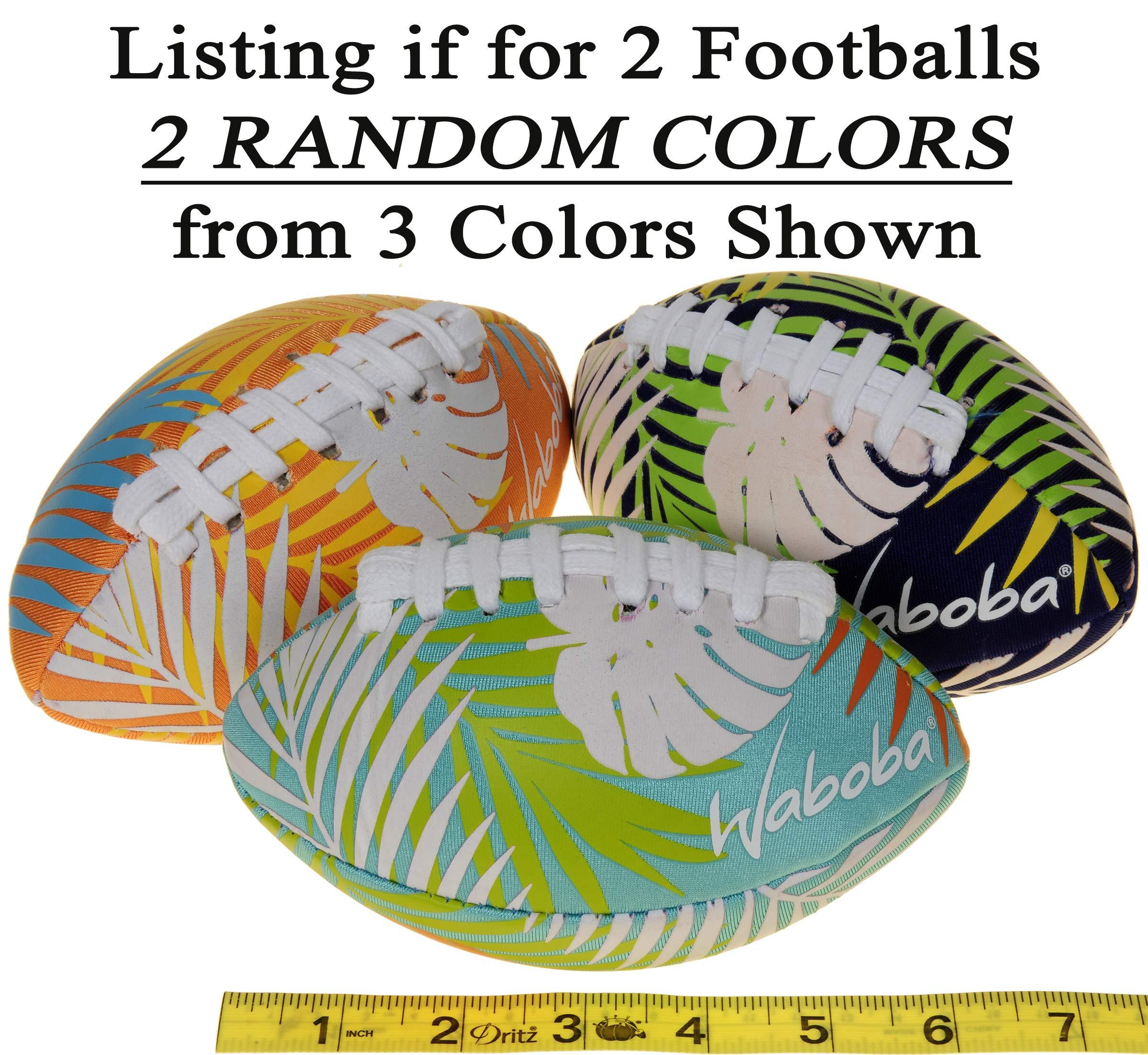 Waboba Color Changing Water Football 6'' // Bundle of 2 Footballs (Random Colors) // Bonus Blue Nylon Mesh Carry Bag// Bundled Items by Waboba (Image #4)
