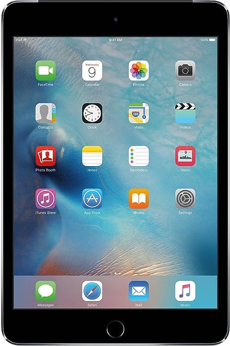 Apple iPad Mini 4, 64GB with Retina Display, Wi-Fi + Cellular, Space Gray (Renewed)