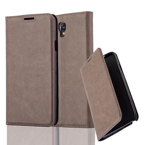 Cadorabo Funda Libro para Samsung Galaxy Note 3 Neo en MARRÓN CAFÉ – Cubierta Proteccíon con Cierre Magnético, Tarjetero y Función de Suporte – Etui ...