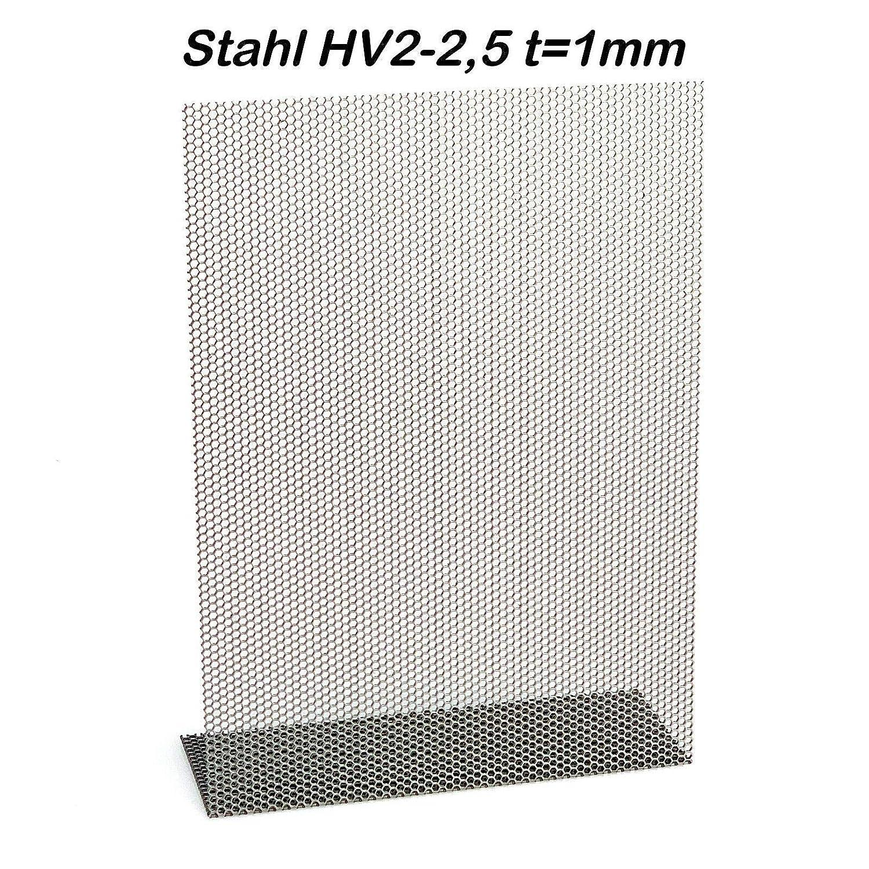 Chapa perforada hexagonal de acero HV 2 – 2,5 aluminio HV 6 – 6,7 ...