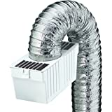 Deflecto Dryer Lint Trap Kit, Indoor Venting with Supurr-Flex Flexible Metallic Duct, Includes Clamps (LTF)