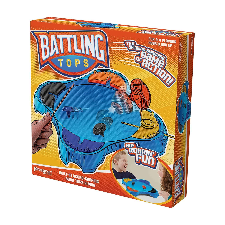 4 Player Pressman Toys Battling Tops Game